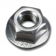 Serrated self-locking flange nut, M10