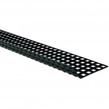 Perforated sheet 1500 x 120 mm 125° black